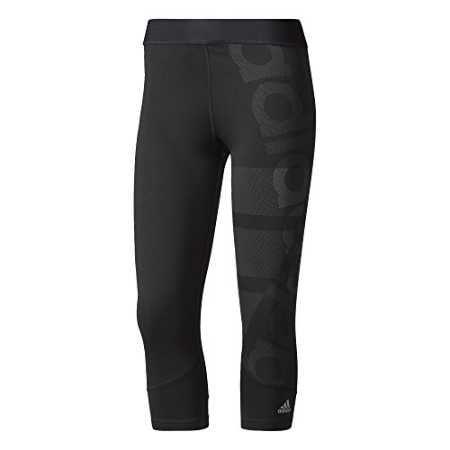 adidas Damen Techfit Capri Logo Tights, Black, S