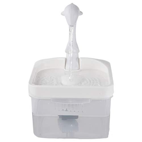 Su-xuri - Fuente para animales de compañía, dispensador de agua para gatos, cuello de cisne, hebilla automática, para beber con fuente viva y sistema LED