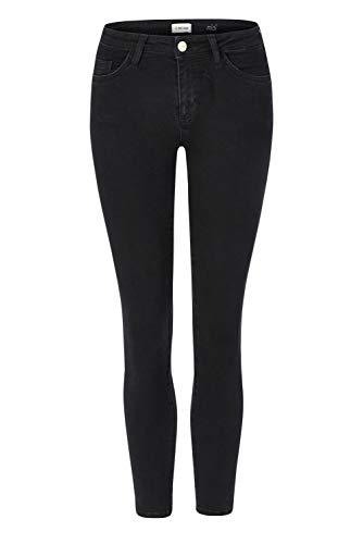rich & royal Midi Jeans in Satin Stretch, Farbe:schwarz, Inch/Längen:W32 L32