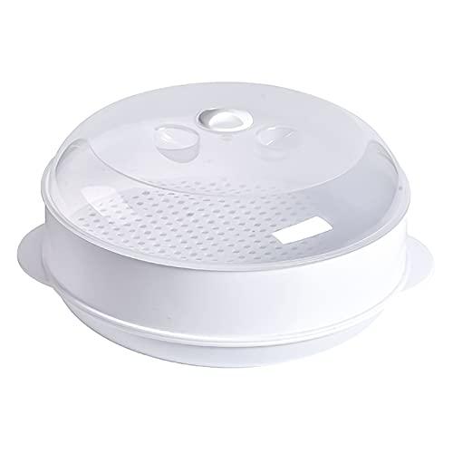 YIBAIYI Vaporizador De Microondas De Alimentos Saludables, Vaporizador De Alimentos Para Microondas Comiendo Cocinar, Cocina A Vapor Para Vegetales Con Microondas (Una sola capa)