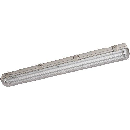 Preisvergleich Produktbild Müller Licht Wannenleuchte Aqualux ECO Grau IP65 / Inklusive Leuchtmittel: G5 21W 1850lm neutralweiß / 20300350