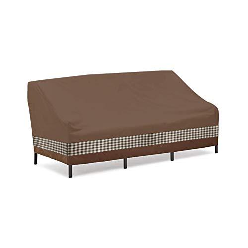 FENGLI Cubierta de sofá de jardín de 2/3 plazas, Cubiertas Impermeables para Exteriores Cubiertas de Asiento de Banco al Aire Libre Transpirable Resistente a la lágrima Resistente a los Rayos