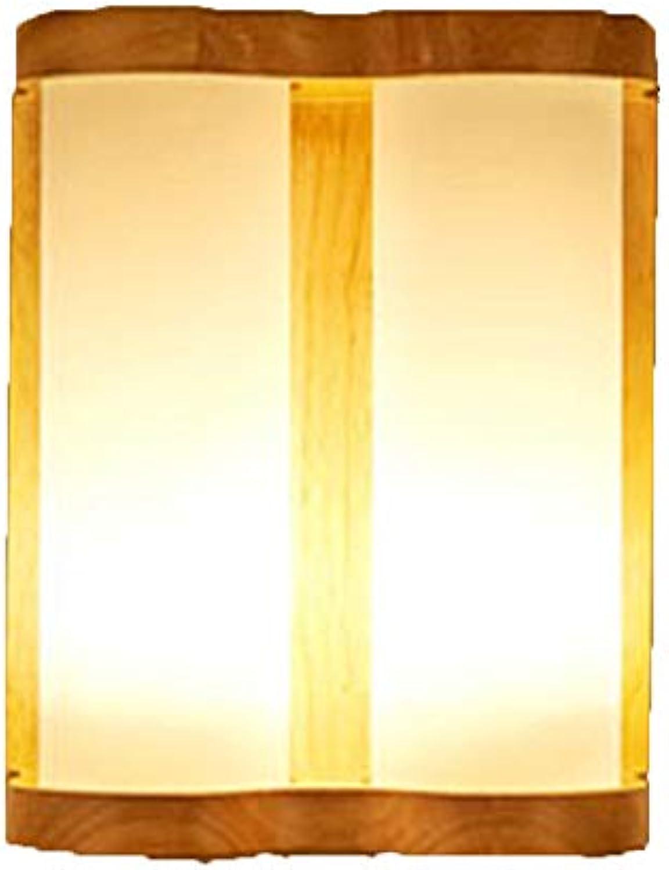 Wandleuchte Nordic Modern Minimalistisch Massivholz Wandleuchte Treppe Gang Schlafzimmer Nachttischlampe Led Log Hotel Engineering Wand,Holzfarbe 53