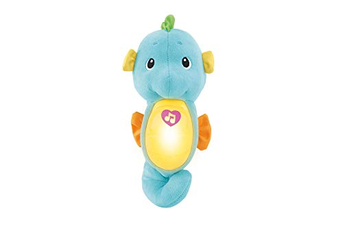 Fisher-Price Soothe & Glow Seahorse, Blue, Standard Packaging