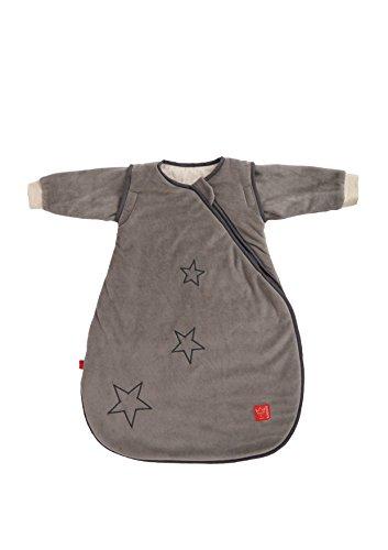 Kaiser 65070124 Schlafsack STAR sidezip, Ganzjahresschlafsack, Arme abtrennbar, 70 cm, grau