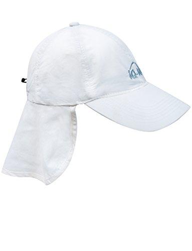 iQ-UV 200 Sonnenschutz Cap mit Nackenschutz Kappe, White, 55-61 cm