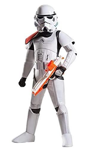 Rubie's - Disfraz oficial de Star Wars de Disney Super Deluxe Stormtrooper, para nio, talla pequea