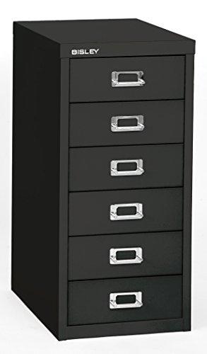 Bisley 6 Drawer Steel Multidrawer Storage Cabinet, Black (MD6-BK)