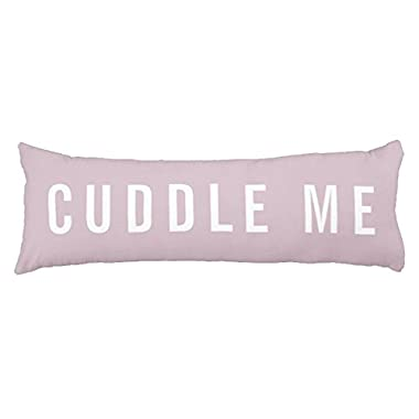 UOOPOO Cuddle Me Pink Polyester Body Pillow Cover Square 20 x 54 Inches for Bed Print on Twin Sides