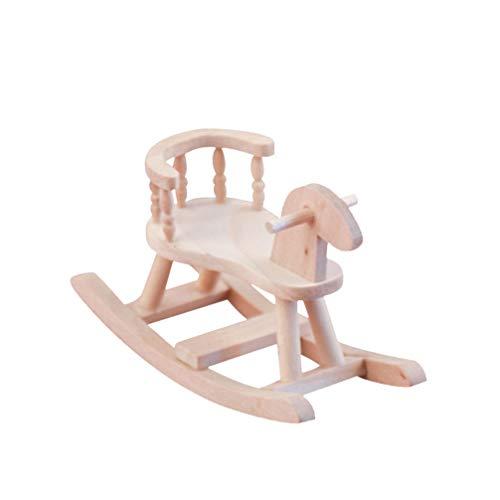HEALLILY Mini Mecedora de Muebles de Madera Mecedora de Made