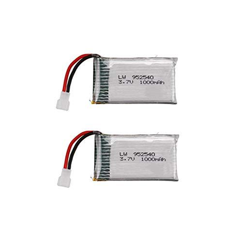 MeGgyc 3.7V 1000mAh 25c Batería Lipo para X5 X5C X5SC X5SW M68 X705C SG600 RC Quadcopter Drone Repuesto Yellow