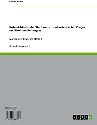 Unterrichtsstunde: Stationen zu sachorientierten Frage- und Problemstellungen: Mathematik Gewichte Klasse 3 (German Edition)
