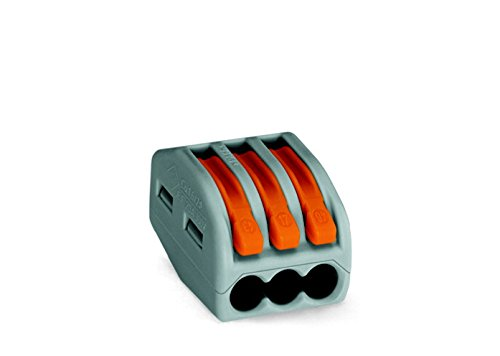 Wago 3-Leiter-Verbindungsklemme 2,5qmm 222-413, 50 Stück