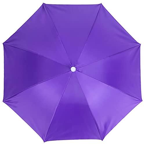 Gorra De Paraguas, Sombrero De Paraguas para Adulto Sombrero De Paraguas Impermeable para Senderismo para Pesca Al Aire Libre para Acampar Al Aire Libre(Púrpura)