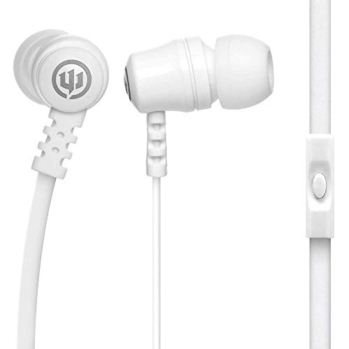 Wicked Audio Drive 1000cc Earbuds with Enhanced Bass, White