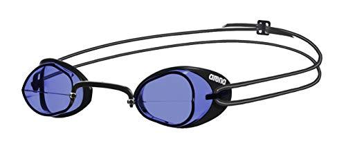 arena Unisex Wettkampf Schweden Schwimmbrille Swedix (Ultraleicht, UV-Schutz, Anti-Fog Beschichtung), Blue-Black (75), One Size