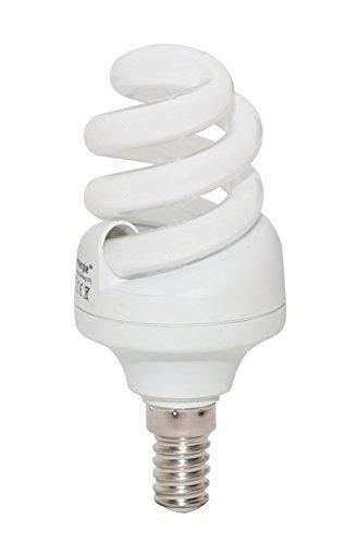 Lowenergie - Bombilla fluorescente compacta (11 W, 65 W, bajo consumo, CFL 6500 K, luz blanca diurna, rosca Edison pequeña E14, 10 años, 10.000 horas)