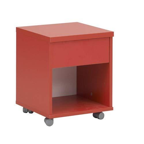 GAMI Mobile Unit, Bois, Blanc/Rouge, 36 x 36 x 44 cm