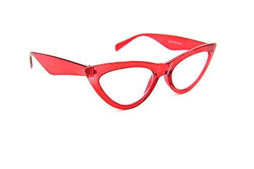 Anti Luz Azul Ojo de Gato Gafas de Lectura con Estilo Retro 1950,60 ' S Mujer Moda 5 Colores DX24ABL - Rosa