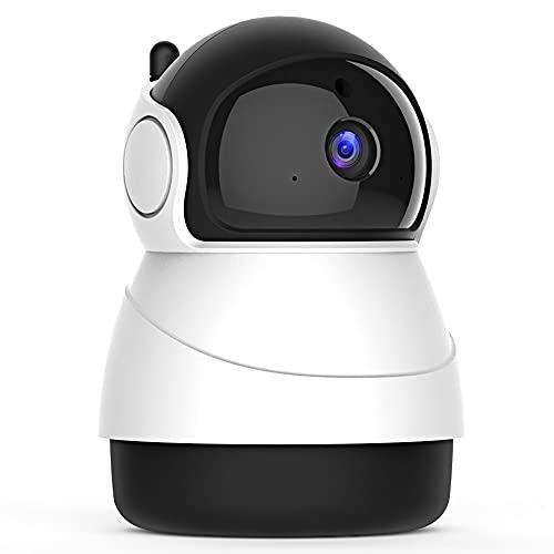 Cámara de Vigilancia WiFi Interior 1080P Cámara IP, Visión Nocturna, Detección de Movimiento, Audio Bidireccional, Compatible con Alexa