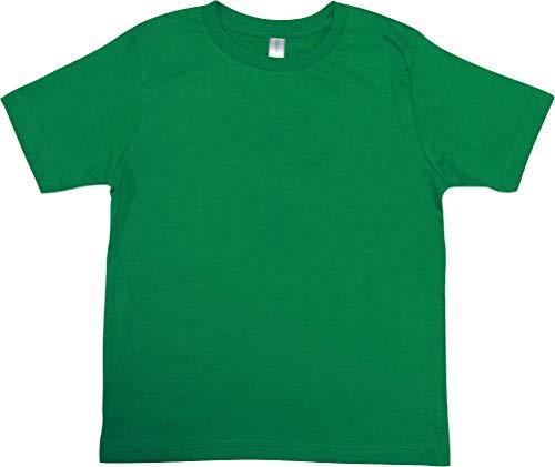 [ディアコロン] Tシャツ キッズ 半袖 綿100% 女の子 男の子 無地 コットン 安い 子供服 トップス かわいい おしゃれ シンプル カットソー 春 夏 秋 dk001 グリーン 150