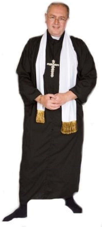 CL COSTUMES Panto-Bühne-Theater-Welt Büchertag VIKAR   Priester mit Kreuz & SCHAL Herren Maskenkostüm - Alle übergren - Wie abgebildet, Men  X-Large