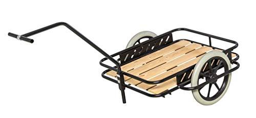 DS Handwagen - Bollerwagen - Handkarre aus pulverlackiertem Stahl - mit pannensicheren Rädern bis 150 kg belastbar Schwarz