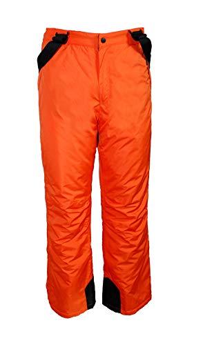 Unbekannt Kinder Jungen Skihose Schneehose Snowboardhose Winterhose - Orange, 122/128