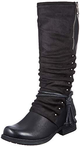 Rieker Damen 93273 Hohe Stiefel, Schwarz (schwarz/Black 00), 41 EU