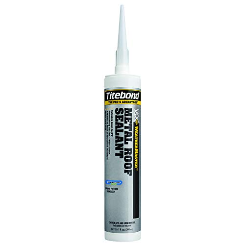 Titebond 62401 WeatherMaster Metal Roof Advanced Polymer Sealant, 10.1 oz, Gray