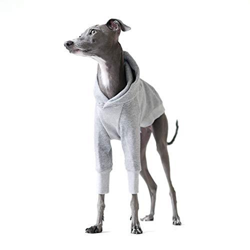 プルオーバー フーディー#01 イタリアングレーハウンド服 イタグレ服 犬服 (グリーン×グレー, M)