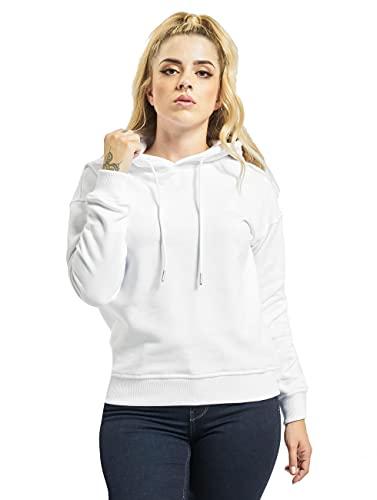 Urban Classics Damska bluza z kapturem Ladies Hoody, damska bluza z kapturem Basic Sweater dostępny w wielu kolorach, rozmiary XS - 5XL, biały, M
