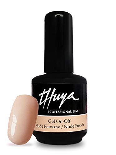 Thuya On-Off, Esmalte de gel de uñas (Tono Nude) - 14 ml.