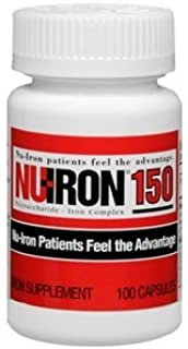 Nu-Iron 150 Iron Supplement 100 Capsules by Merz Pharmaceuticals