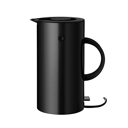 Stelton EM77 Wasserkocher in schwarz, 1.5l, classic line, Ø: 13,3 CM, H: 25 CM