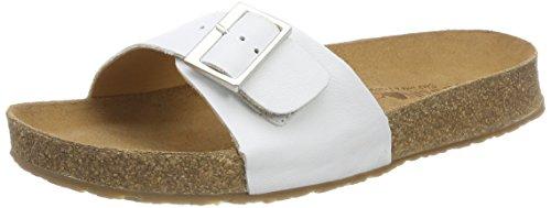 HAFLINGER 819015 Gina Schuhe Damen Herren Pantoletten Clogs Leder, Schuhgröße:41 EU, Farbe:Weiß