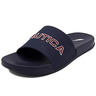 Nautica Men's Athletic Slide Comfort Sandal-Stono 1-Navy-9