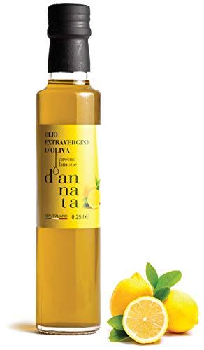 D Annata  . Condiment à Base D Huile D Olive Extra Vierge Aromatisée Au Citron. N 1 Bouteille Dorica 250 ML. Huile D Olive 100% Italien