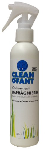 CLEANOFANT Fabric-Sealing Spray-Effective impregnation Spray for A wide range of applications: Liquid preparation for reproofing all types of Tent Awning In The Caravan, Motorhome, awning, covers, upholstery, textiles such as Outdoor clothing and shoes. (Spray, Spray-On Textile Motorhome / Caravan, Motorhome, Caravan, Camping