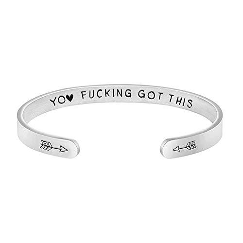 Nordic Runes Bracelets Inspirational BBF Friendship Gifts for Women Girls Men Engraved Mantra...