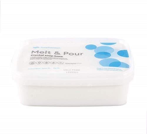 Melt And Pour Base de savon Transparent Sans Laureth sulfate de sodium 1Kg