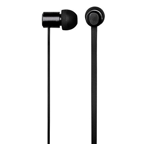 Hama In-Ear-Headset Pro, Flachbandkabel, 3,5 mm Klinkenstecker, Vollmetallgehäuse, passive Geräuschunterdrückung, schwarz
