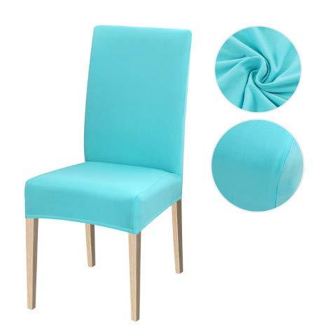Funda de Silla de 6 uds, Funda de Asiento elástica de Color sólido, Fundas de Licra para sillas elásticas para Cocina, Comedor, Silla, Hotel, Banquete, 6 uds, 8