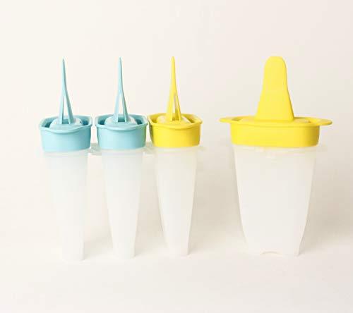 TW TUPPERWARE Lollitups Eisformen Kinder Eislutscher 2X Türkis + 2X Limette D178