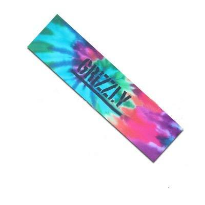 HLRY 84 * 23cm monopatín Papel de Lija Vespa Skateboards Lijas Longboard Papel abrasivo Junta monopatín eléctrico Grip Cinta del patín (Color : Tiedye Letters)