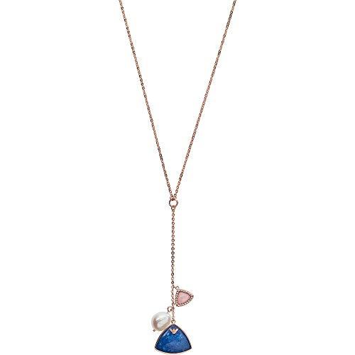 Emporio Armani EG3443221 Damen Collier Silber 925 Rose weiß Süßwasser Perle 46cm
