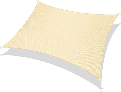 wuquansy Cremefarbenfarbene Segel Segel wasserdichte Leinwand 95% UV-Schutz für Gartentrasse Rasenflächen Decking Pergola-Creme Farben_2 * 2,5 m