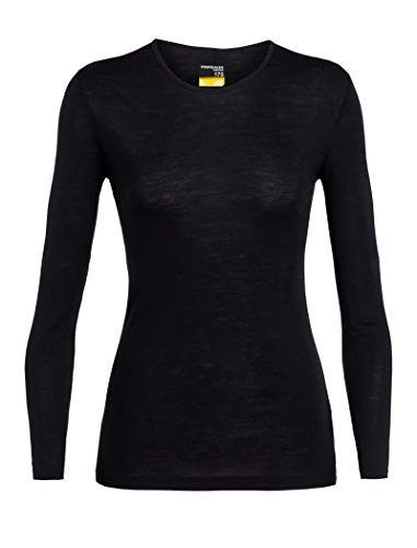 Icebreaker Damen 175 Everyday LS Crewe Merino Baselayer Funktionsshirt, Black, XL