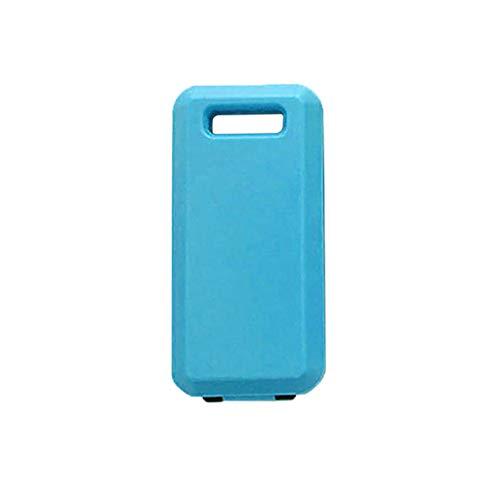 Ewendy - Vajilla portátil para camping, cuchara tenedor, palillos de plástico con caja de embalaje, color azul