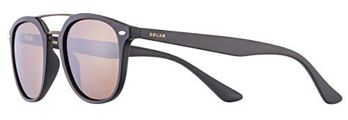 Solar Miller - Gafas de sol polarizadas para hombre, color negro mate